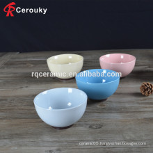 Hot selling colorful round shape personalized ceramic bowls