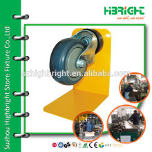 "4"" PU wheels castors for shopping cart trolley"