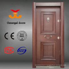 Portes blindées en bois de style turc en acier pour l'extérieur