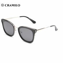 óculos de sol de estilo de marca polarizada de quadro quadrado, óculos de sol de estilo europeu