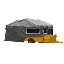 petite remorque campeur pop-up avec roue en acier inoxydable