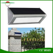 Sensor de movimiento de radar de microondas de aluminio de alta calidad durable Lámpara de techo de LED solar al aire libre de 48LED 1000lm Solar LED IP65