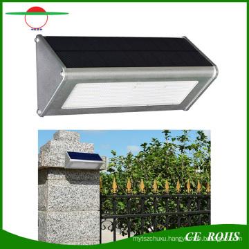 Durable High Quality Aluminum Microwave Radar Motion Sensor 48LED 1000lm Solar Lamp IP65 Outdoor Solar LED Wall Light