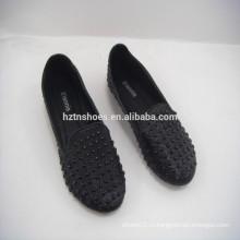 Весна 2015 мода черный балерина обуви леди плоские туфли