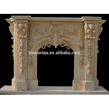 European Palace Style Large Marble Fireplace Mantel