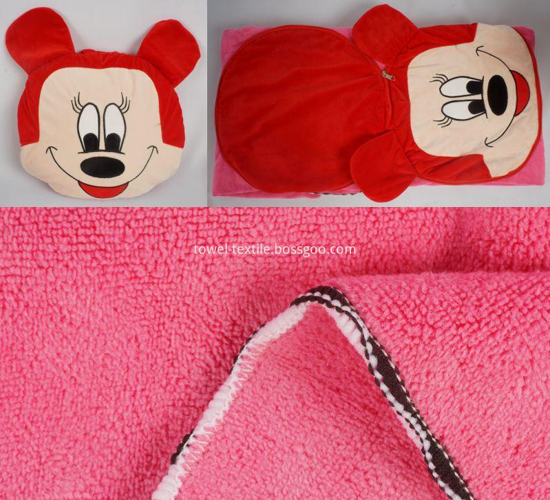 Cute Cartoon Microfiber Blanket