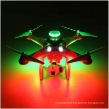 5.8g double GPS Fpv Portable RC Drone 3D Roulant LED Flash Headless Hélicoptère Quadcopter