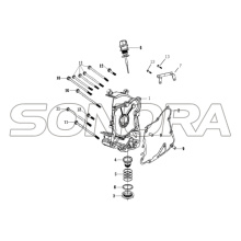 R.CRANK CASE COVER Para LONGJIA FORMULA Spare Part Top Quality