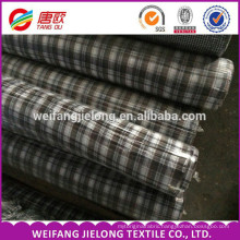 100% cotton yarn dyed woven shirting stock lot fabric TC yarn dyed check shirting fabric stocklot fabric in china