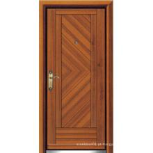 Turco Estilo de aço Porta Blindada de madeira (LTK-D303)