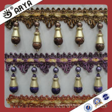 Wholesale Decorative curtain beads Fringe Used for Curtain Accessories,Match Drapery Fabric Decorative Curtain Fringe