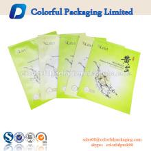 Bolsa de empaquetado modificada para requisitos particulares de la máscara facial de la señora ODM impresión del logotipo Bolsas cosméticas bolsa de empaquetado de la máscara facial del papel de aluminio