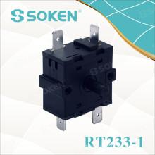 Interruptor rotativo do forno da posição de Soken 4