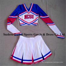 Spandex manga larga Cheerleading Uniformes