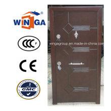 Nigera Market Puerta blindada de chapa de madera de acero de buena calidad (W-T21)