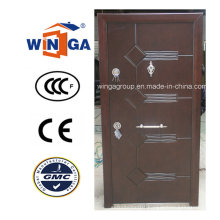Nigera Market Good Quality Steel Wood Veneer Armored Door (W-T21)