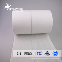 Pure white X-ray detectable thread medical gauze roll