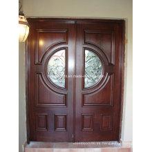 Venta caliente, acabado, madera maciza, principal, entrada, puertas, diseño