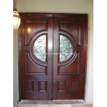 Hot Sale Finished Solid Wood Main Entry Doors Design