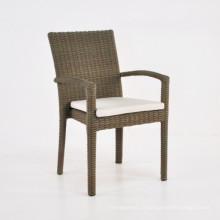 Jardim Rattan mobília do pátio ao ar livre conjunto vime pilha cadeira