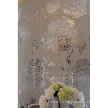 Silver Flower Bisazza Pattern Mosaic Wall Tile (HMP799)