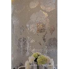 Telha de parede de mosaico de padrão de bisazza de flor de prata (HMP799)