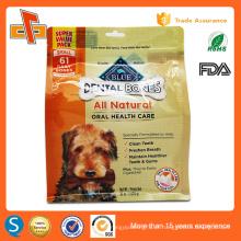 Eco lado gusset stand up ziplock pet food embalagem saco 1kg 2kg 3kg