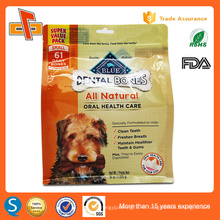 Eco side gusset stand up ziplock упаковка для корма для домашних животных 1kg 2kg 3kg