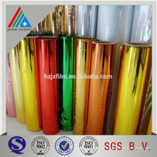 Materiales de embalaje de plástico de PET de metal metálico película de rollo de laminación