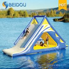 Venta caliente populares Durable gigante inflable piscina flotante tobogán de agua