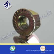 1/4 Flange Nut with Zinc Grade 5