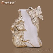calificado hermoso diseño resina material flor jarrón