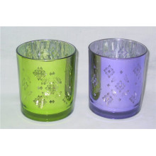 Pillar Silver Electroplating Candle Holder