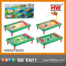 Mais Popular 4 em 1 plástico mini futebol jogo de mesa de brinquedo