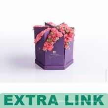 China Lieferanten-kundenspezifische Logo-Fantasie-Papier-Papphexagon-Blumenkästen