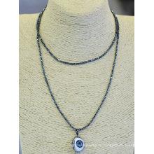 Neue Entwurfs-natürliche Augen-hängende Halsketten-Ansammlungs-Schmucksachen