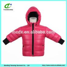 новый дизайн зимней детской одежды в розовый