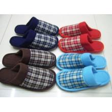 Zapatillas de interior, pantuflas de algodón para mujer de invierno felpa pantuflas interiores de mujer / hombre