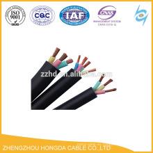 Cable flexible de goma flexible de la envoltura de goma del alambre de cobre 450 / 750v aislado para la comunicación
