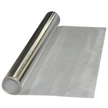 Tejido de aislamiento térmico de fibra de vidrio recubierto de aluminio