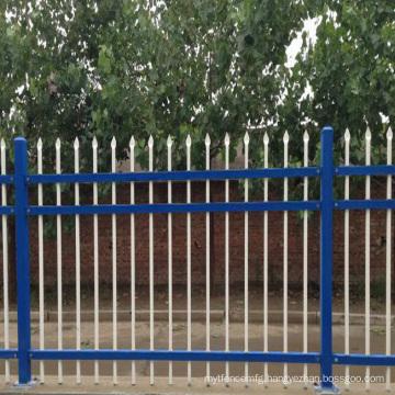 horizontal aluminum fence angled top fence