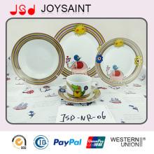 Porcelana de alta calidad Super Blanco Platos de Alimentos