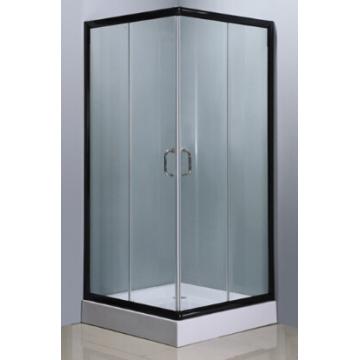 Quarto de banho quadrado simples com acabamento de alumínio de cor preta (E-07Black)