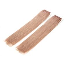Pink Ash Color 12-26inch Human Hair Virgin Hair Remy Hair Tie Style Knot Thread Hair Extension Straight Hair
