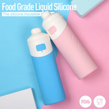 Cold insulate silicone water bottles | Thermal flask