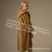 Mink Lady Reversible Coat In Winter