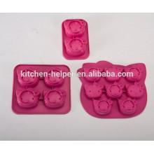 FDA approuvé HQ silicone Bonjour kitty forme moule à gâteau