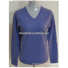 Suéter azul caliente de la Navidad de la cachemira del contraste del color 2014