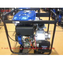4 pulgadas de una etapa de centrifugado clave de arranque de la bomba de agua diesel para el uso de la irrigación