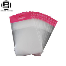 Bopp clear plastic adhesive bag with hang hole